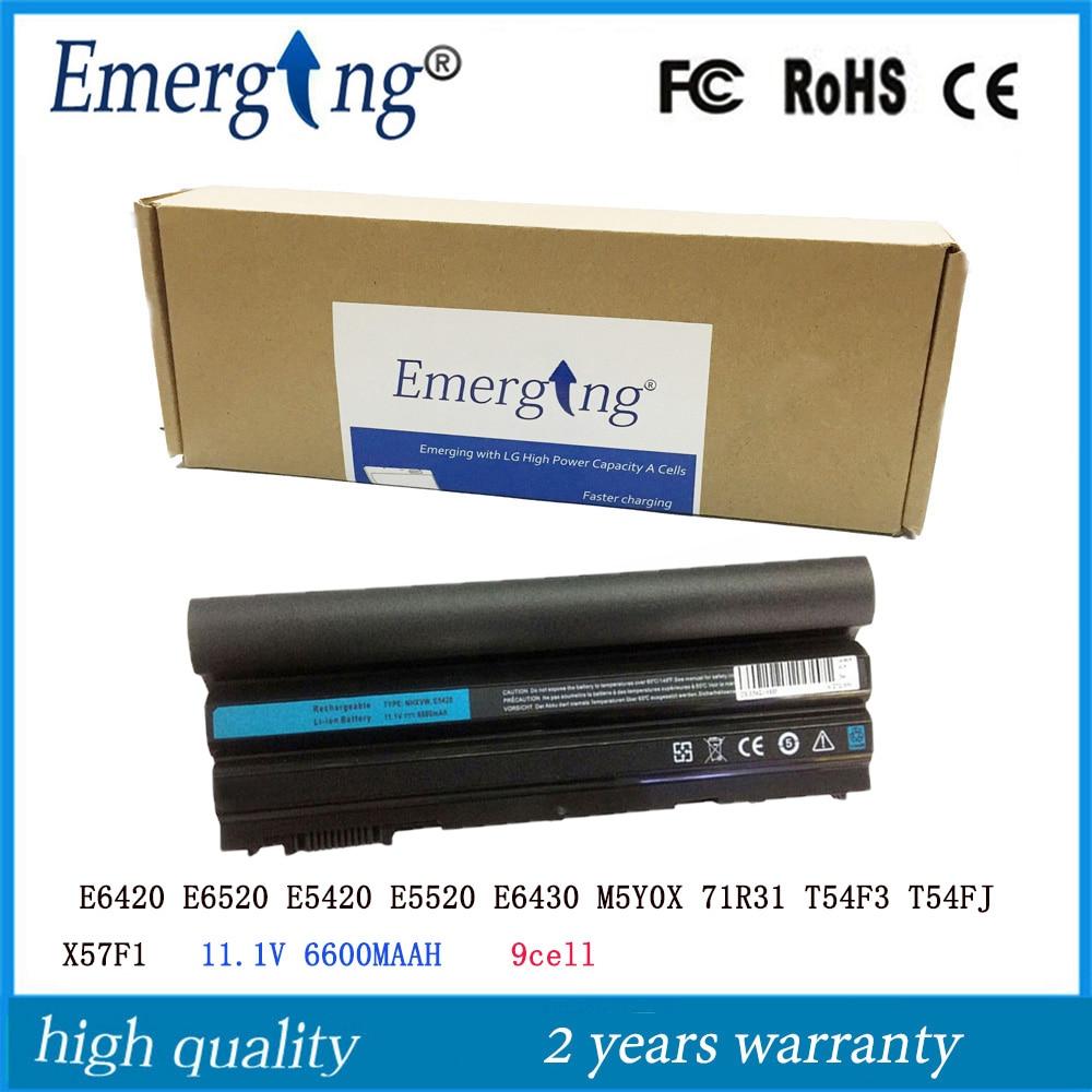 9 cellulaire Nouvel Ordinateur Portable Batterie pour Dell Latitude E6420 E6430 E6520 E6530 E5420 E5430 E5520 E5530 N3X1D T54FJ