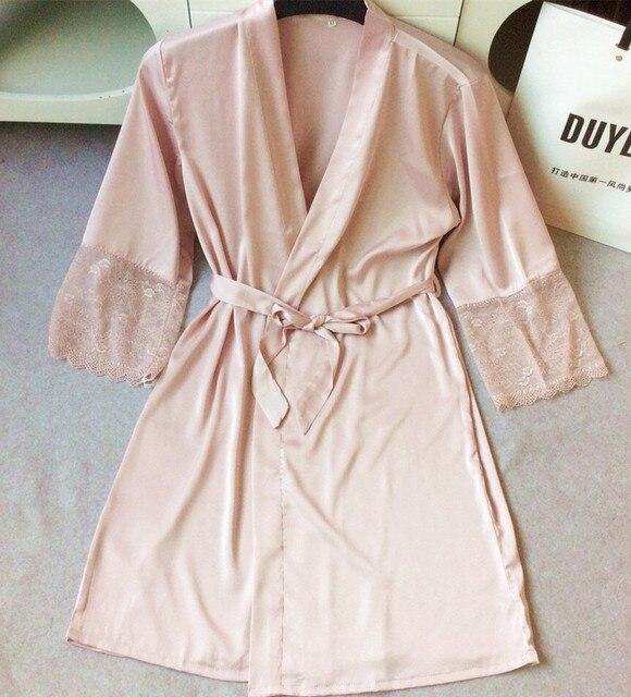 женский халат Середина рукав сексуальные женщины и ночное белье, халаты плюс размер M, L, XL, XXL кружева silkly женщины халаты халат