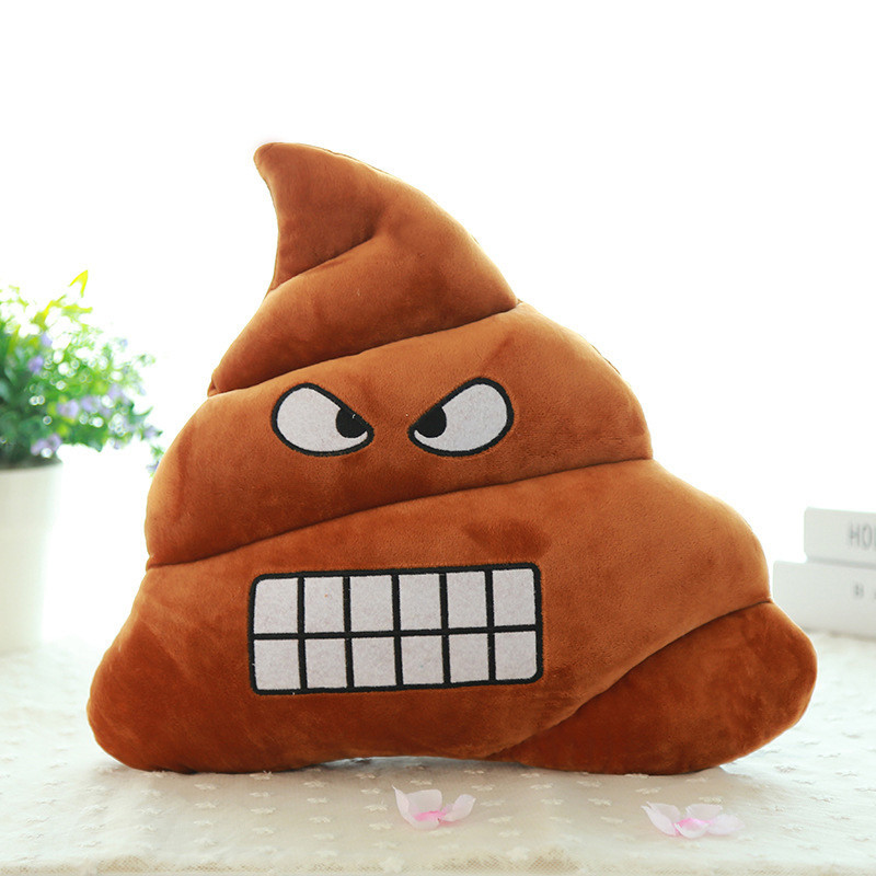 Pillow Case Browm Emoji Smiely Poop Plush Cushions Home Decor Kids Gift Stuffed Poop Doll Keychain Decorative Jacquard C7720