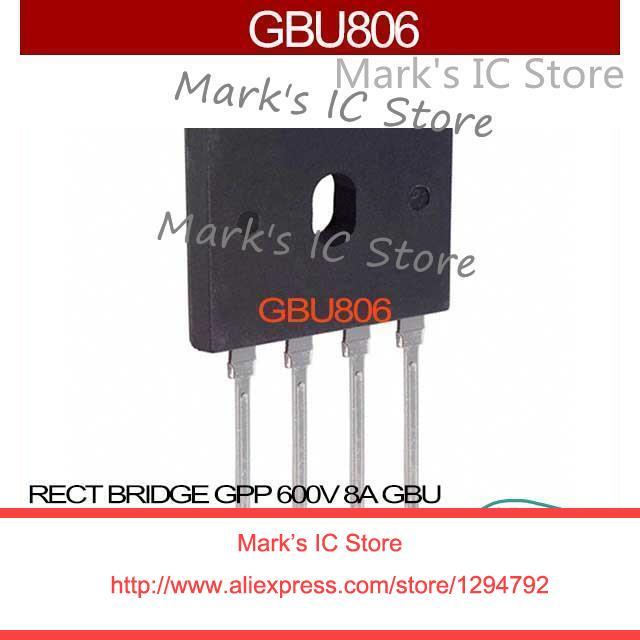 GBU806 RECT BRIDGE GPP 600V 8A GBU GBU80  806 GBU8 806 GBU 806