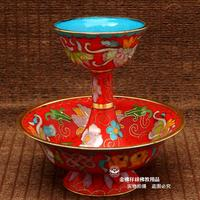 5 inch thick high quality cloisonne finish Custodian cup Tantric Buddhism supplies