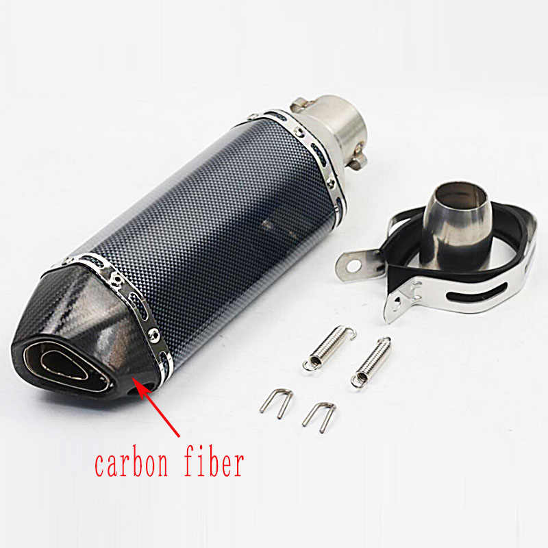 51MM Universal Motorcycle Exhaust Pipe Muffler System Racing Escape Moto  ATV Scooter KTM Pit Bike For YAMAHA nmax FZ6 CB400