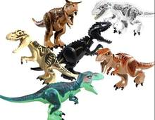 15pcs sy Jurassic World Park Suit Green Dinosaur Tyrannosaurus Movie Building Blocks Figures Toys Model For Children L032(China)