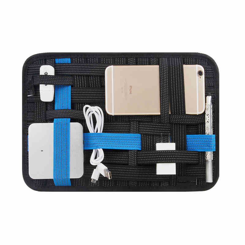 цена Elastic storage plate Notebook Mouse mobile hard disk data cable headset charger Digital Storage bag Oxford for Tablet PC bags