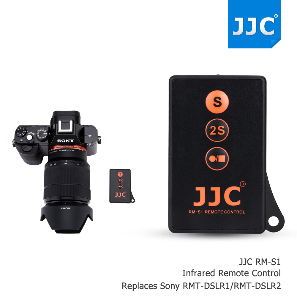 JJC wireless Remote Control for SONY A7SII A7RII A7S A7II A6300 NEX5 NEX 5N NEX5R NEX 6 NEX 7 A230 A77II AS RMT-DSLR1RMT-DSLR2