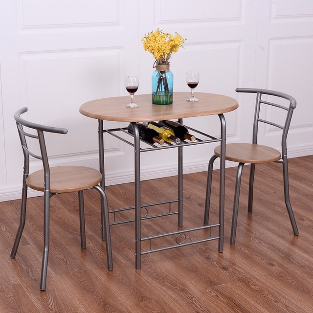 Giantex 3 Pcs Bistro Dining Set Table And 2 Chairs Kitchen Pub Home