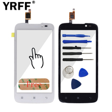 New Touch Screen Digitizer Panel For Lenovo A516 Front Glass Lens Sensor Repair Replacement Parts Tools + Sticker Free Shipping