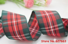 1″(25mm) width polyester scottish tartan plaid ribbon DIY hair bow accessories