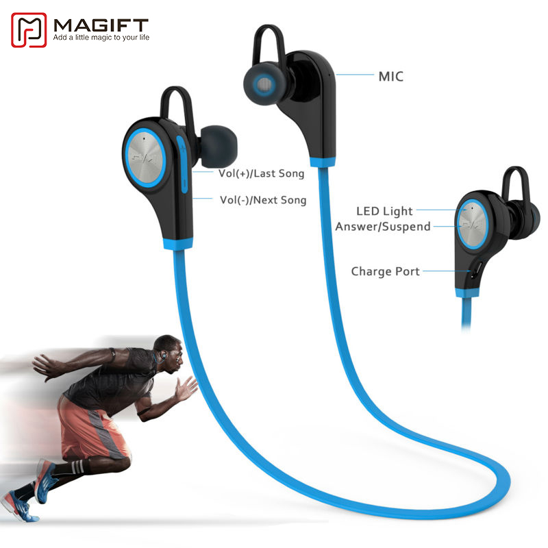 Magift6 Sports Bluetooth Headsets CSR4.1 Q9 Wireless Headphones In-ear Stereo Earphone with Microphone for iPhone7 plus Android remax 2 in1 mini bluetooth 4 0 headphones usb car charger dock wireless car headset bluetooth earphone for iphone 7 6s android