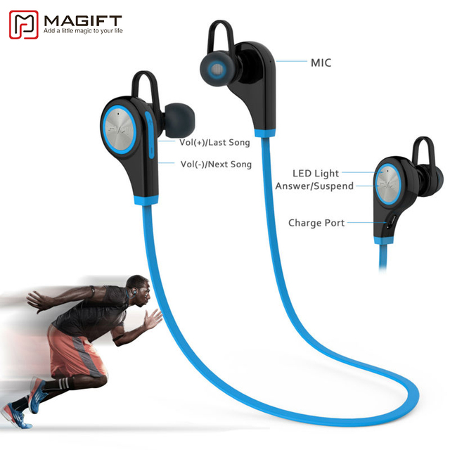 Headphones In-ear Stereo Earphone with Microphone for iPhone7 plus Android Magift6 Sports Bluetooth Headsets CSR4.1 Q9 Wireless