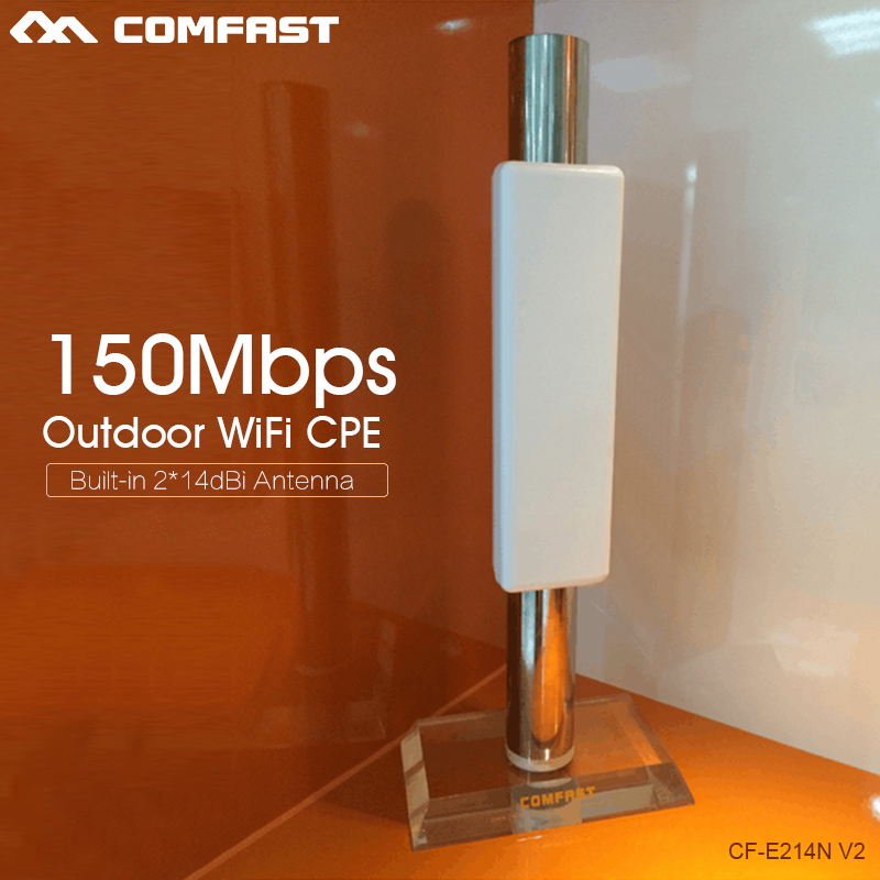 2pcs Wireless Outdoor 2KM Long Range CPE,150Mbs,802.11n,2.4GHz WIFI repeater Signal Amplifier Booster wireless bridge AP routers купить