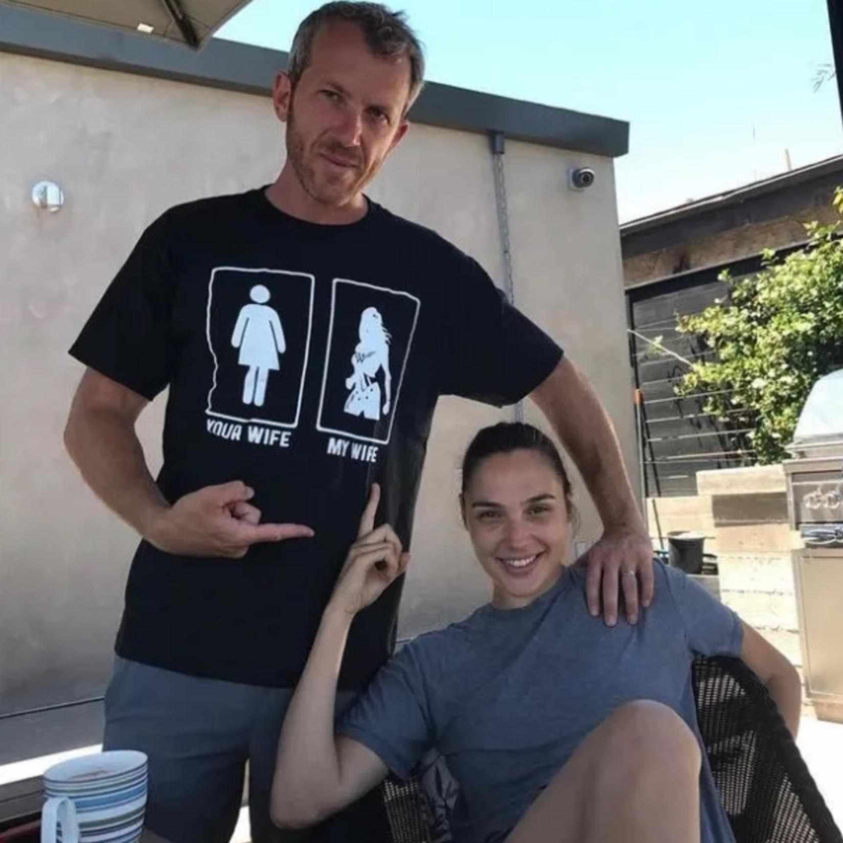 Wonder Woman Gal Gadot moja żona twoja żona 100% bawełna śmieszne koszulki z krótkim rękawem męska koszulka 100% bawełna