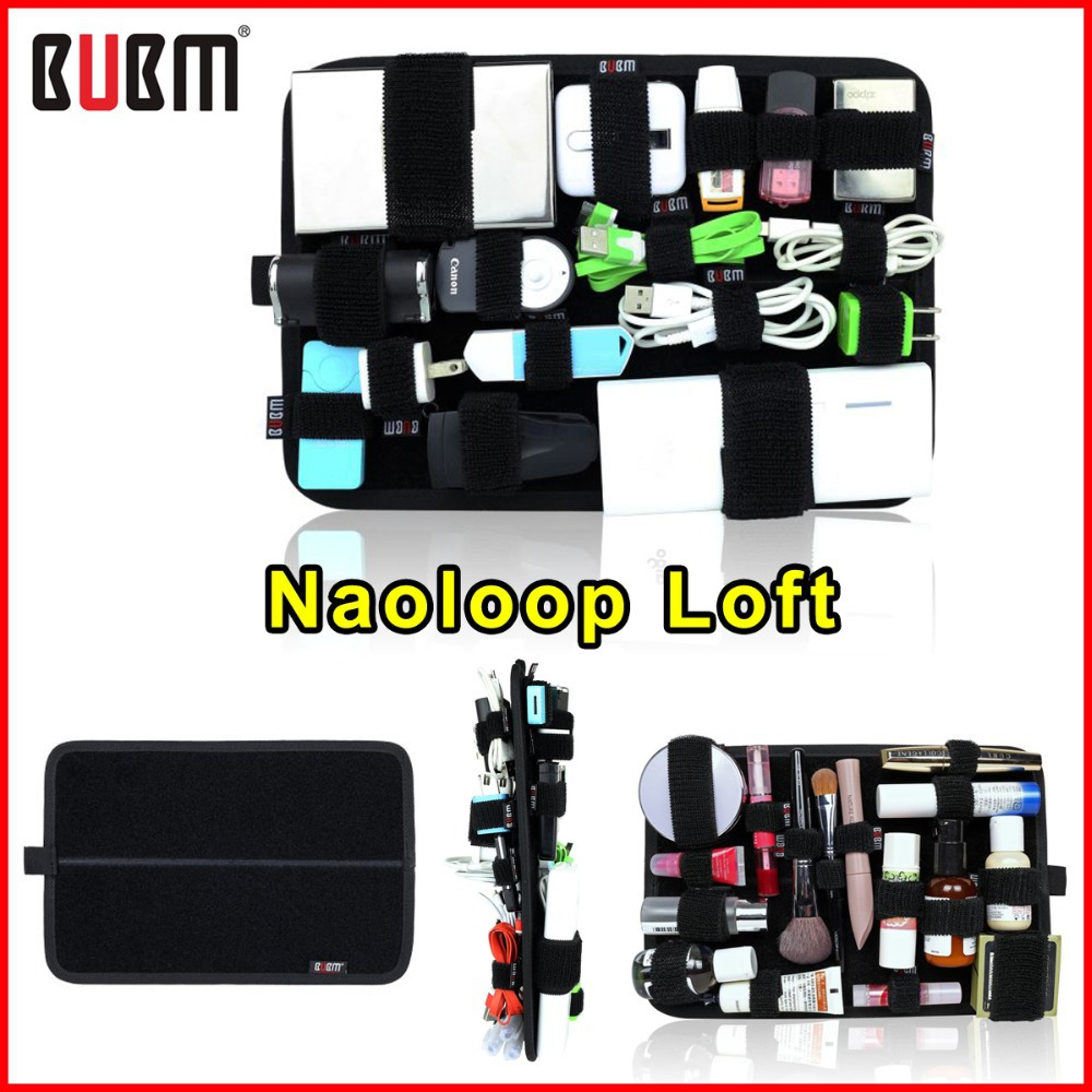 Small Size BUBM Naoloop Loft Double Sided Cable Organizer Bag Receiving Plate DIY Travel Receiving Bag