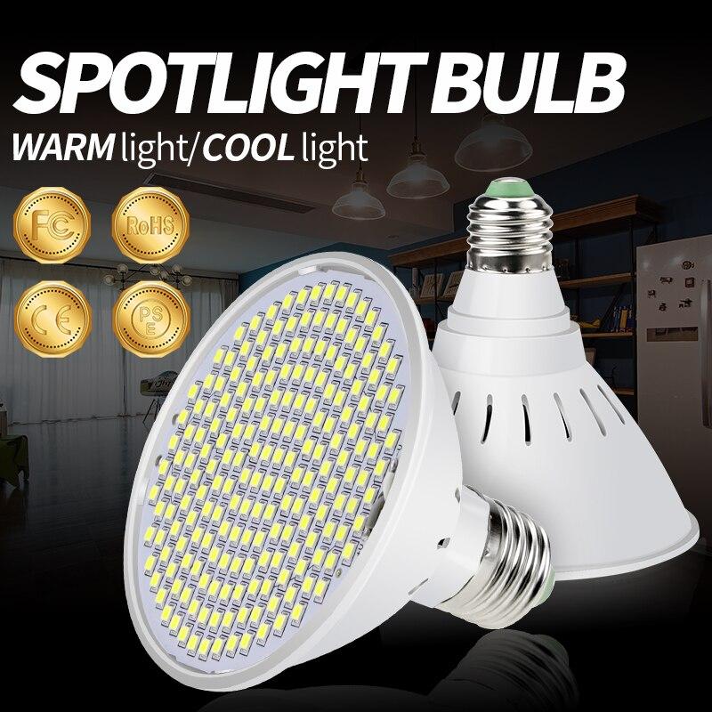E27 Led Light Bulbs 110V Bombillas LED Lamp Spotlight Bulb AC85-265V Light 220V 2835 SMD 15W 20W Lampara No Flicker Smart IC