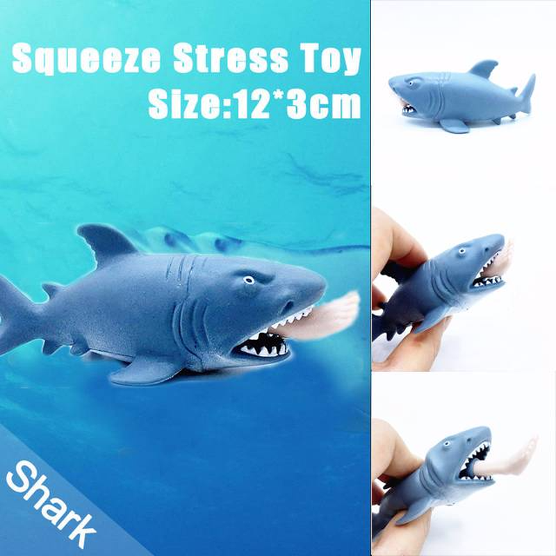 Soft Squishy Squishi 12cm Funny Toy Shark Squeeze Stress Ball Alternative Humorous Light ...