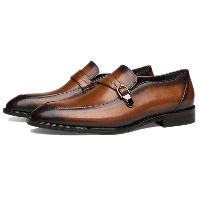 Fashion Brown / Black Loafers Mens Dress Shoes Genuine Leather Wedding Formal Prom Shoes Male Social ShoesFashion Brown / Black Loafers Mens Dress Shoes Genuine Leather Wedding Formal Prom Shoes Male Social Shoes