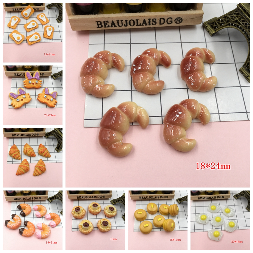 Resin New Arrival Adorable Miniature Hot Selling Bread For Crafts Making, Scrapbooking, DIY