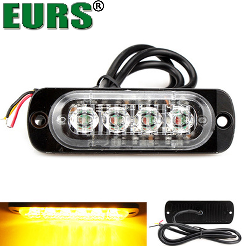 EURS New LED Work Light Bar Spotlight Flood Lamp 6W 12V Auto Driving Fog Offroad LED Work Car Light 4 led Motorcycles lamps