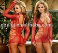Das mulheres Sexy Lingerie night Dress Red fishnet vestido, Tanga um tamanho 2054