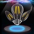 Edison Glass Led Filament Bulb Home Lighting C35 E14 Candle Energy Saving Lamp Light Led A60 Bombilla E27 COB 220V 2W 4W 6W 8W