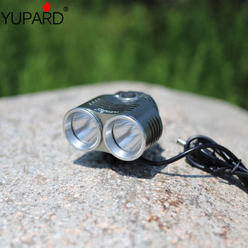 YUPARD outdoor fishing camping 2* XM-L T6 2T6 Bicycle bike HeadLight Lamp 2 in 1 with charger+rechargeable battery 2000lm