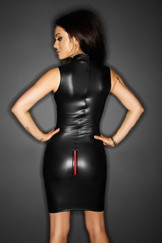 Black Shiny Dress Porn - Sexy PVC Leather Latex Bodycon Dress Shiny Zipper Sleeveless Catsuit Erotic  Fetish Bondage Clubwear Adult Porn Costume S M L XL-in Babydolls & Chemises  from ...