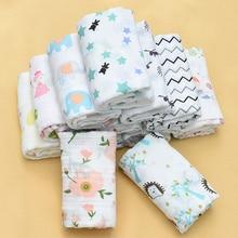 100% Muslin Cotton Baby Swaddle Multi-use Blankets Newborn Infant Gauze Both Towel Warp 110X110CM