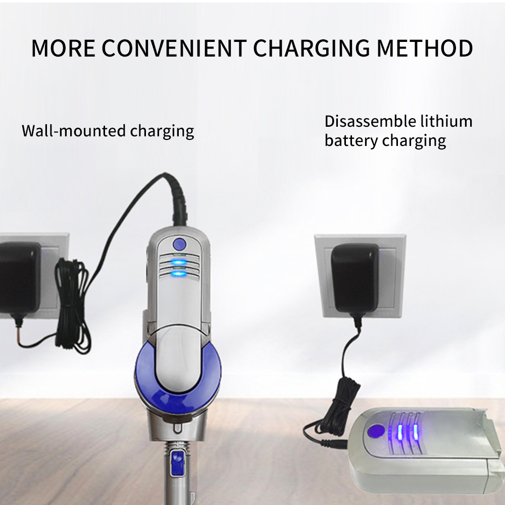FUNHO BH-603 Wireless Vacuum Cleaner 9000pa Powerful Suction Led Light Stick Handheld Portable Vacuum 4 in 1