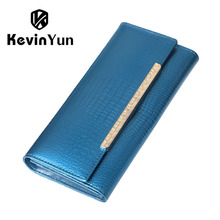 Купить с кэшбэком 2016 New luxury patent leather women wallets long ladies clutch wallet designer purse high quality big capacity women Monedero