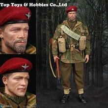 K80136 /K80135 1/6 action figure WWII British Airborne Red Devils Sergeant commander Uniform Military toy Soldiers set