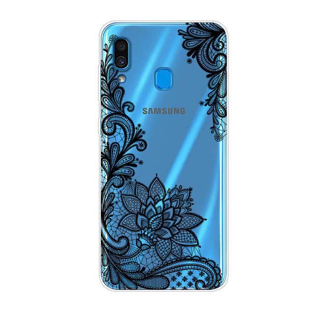 06a76326e1 Case For Samsung Galaxy A20 Phone Case Silicone Soft TPU Cartoon Back Cover  Case For Samsung