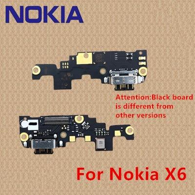 100% Original For Nokia X6 Black Board OEM Charging Port PCB Board USB Charging Dock For Nokia X7 6.1 7 .1 7 PLUS For Nokia 6 7