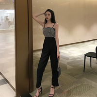 2019 summer bodysuit women casual strappy floral sling long trouser playsuits jumpsuit rompers holiday dropship