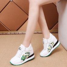 383138654 As Sapatilhas das mulheres de Outono Sapatos de Plataforma 2018 Primavera  Coreano Moda Calcanhar Escondido Cunhas