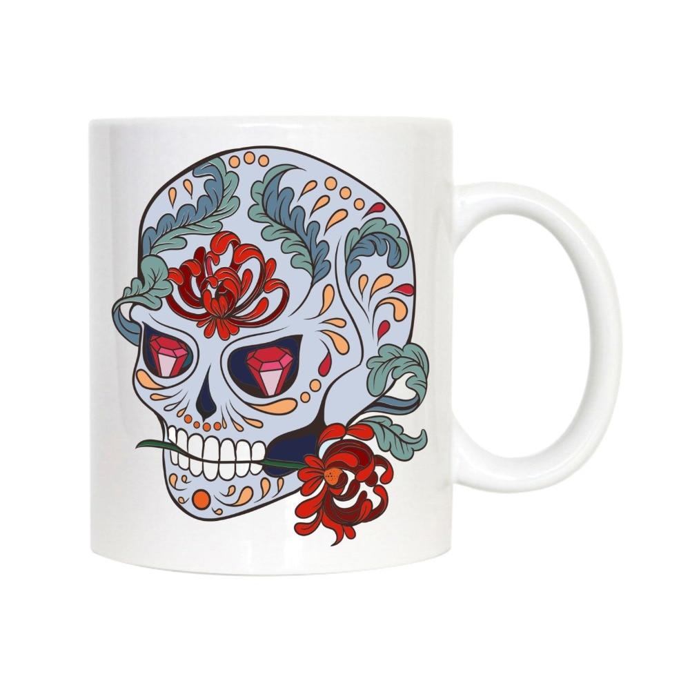 sugar skull mugs Coffee Mug Tea mugen porcelain home decal kitchen milk beer wine whisky whiskey