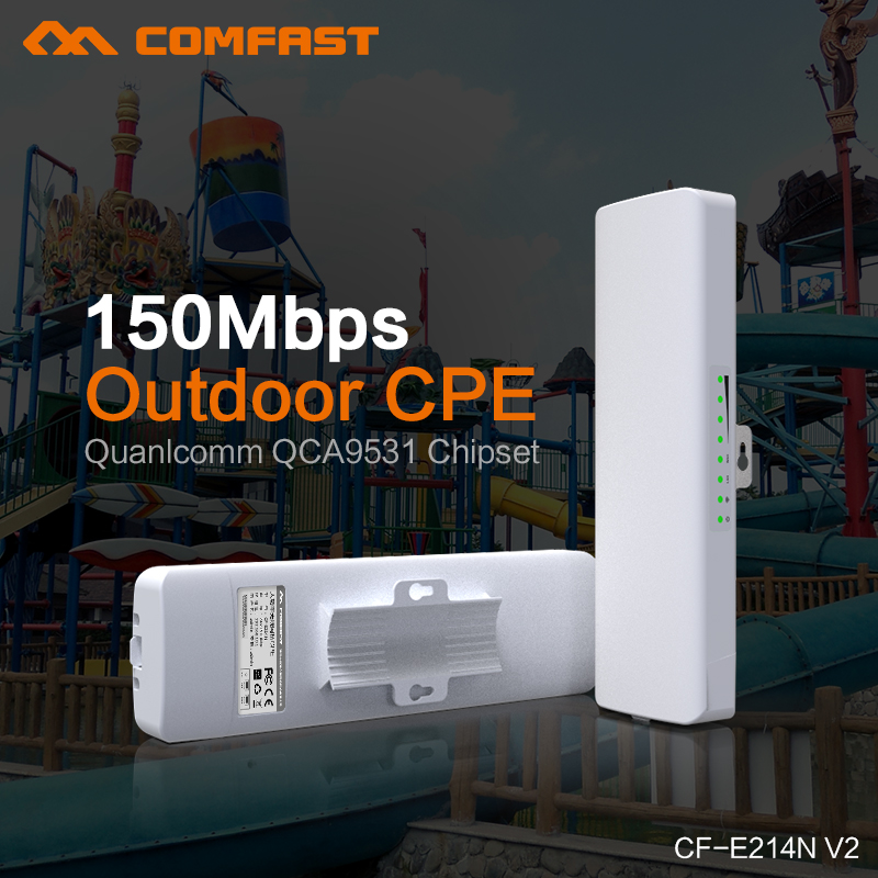 2pcs COMFAST Wireless Long Range CPE,150Mbs,11n,2.4GHz WIFI Signal Booster&Amplifier Outdoor transmission 1-2KM wireless bridge mbs ruta 150 white