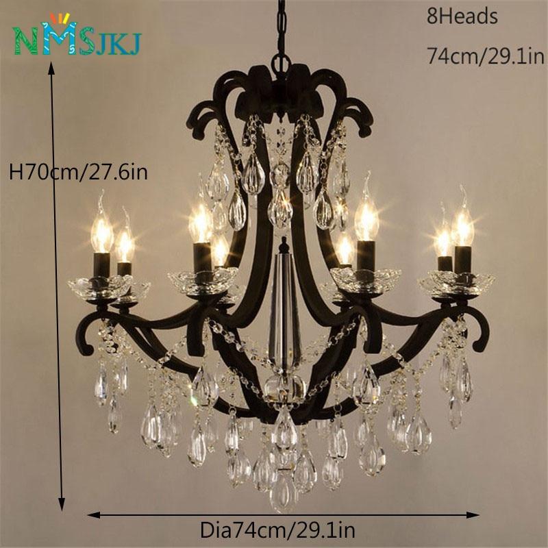 5 6 8 Lights Crystal Candle Chandelier Modern Fashion Lamp For Living Room Bedroom Restaurant Ac110 240v Black In Chandeliers From Lighting On