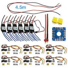 JMT Assembled Kit : 40A ESC Controller 750KV Motor Connection Board Wire for 6-Aix Drone Multi Rotor Hexacopter