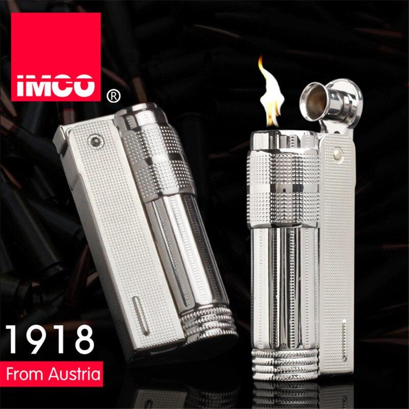 Original IMCO Lighter Old Gasoline Lighter Genuine Stainless Steel Cigarette Lighter Cigar Fire Briquet Tobacco Petrol Lighters