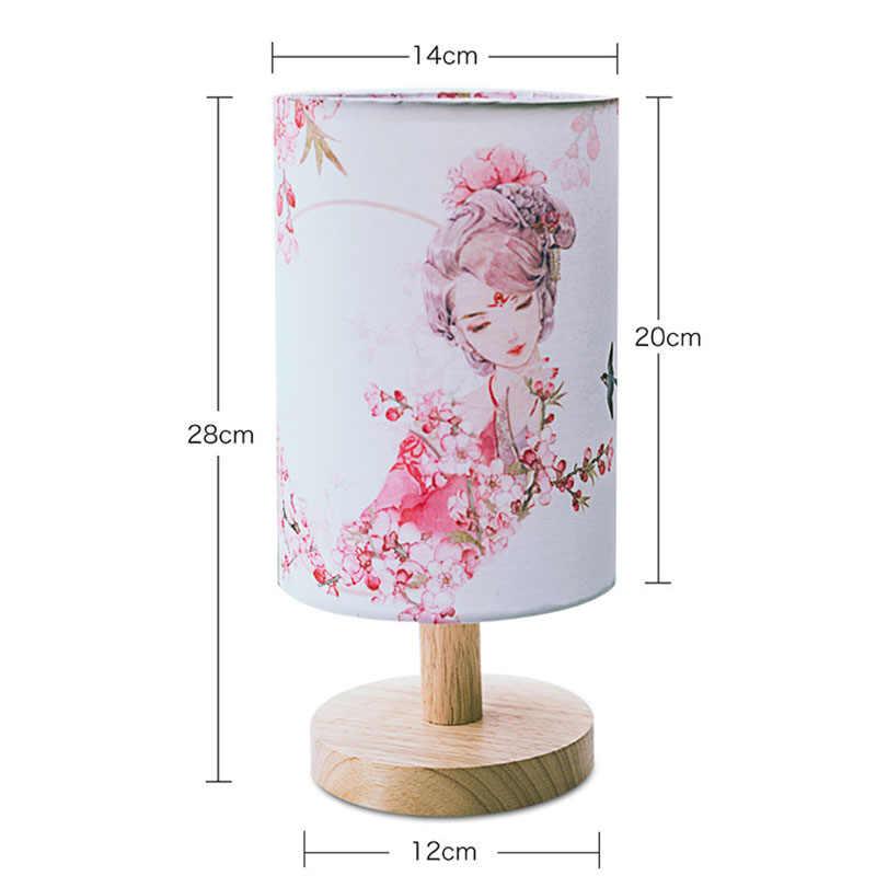 Настольная лампа, лампа для кровати, прикроватная Люстра В Стиле Арт Деко, китайский стиль, лампа для гостиной, Домашний Светильник, ночной глаз, светодиодный Текстиль