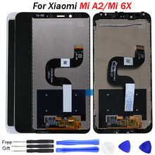 For Xiaomi Mi A2 Display Screen MIA2 LCD Display Digitizer Touch Screen Assembly for Xiaomi Mi 6X MI6X Replacement Repair Parts tested working mi 4i lcd display touch screen digitizer assembly for xiaomi mi 4i mi4i m4i mobile phone repair parts
