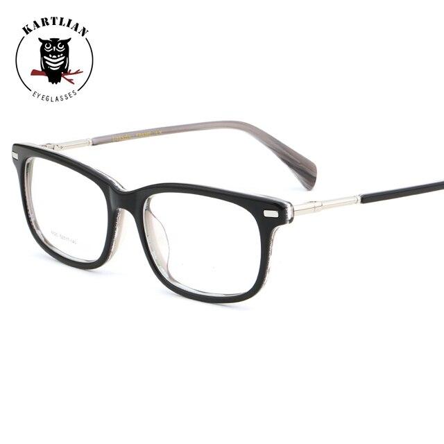 4741dd228d Kartlian Acetate alloy frame eyewear men women Optical glasses frame clear lens  prescription lenses spectacles