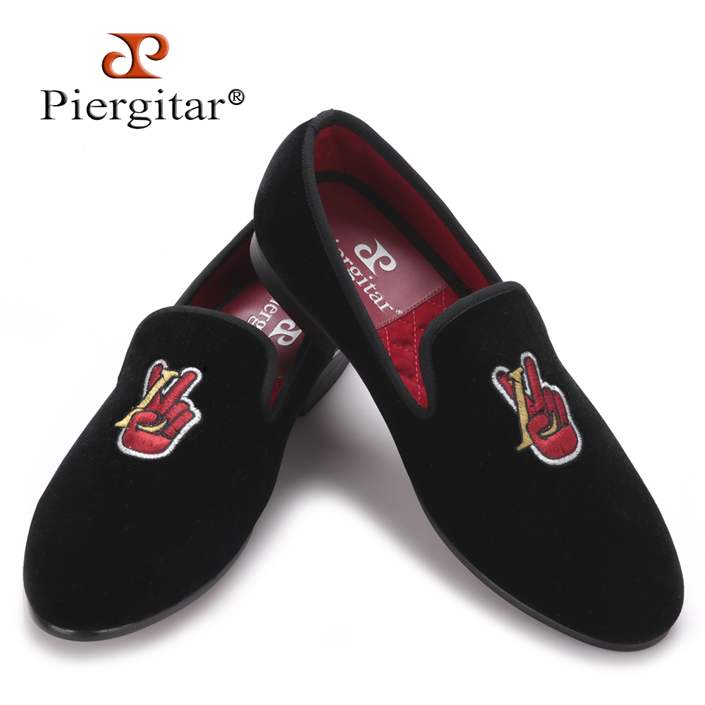 Embroidered Pattern Velvet Men casual shoes Men Party and Banquet Loafers Male Plus Size Flats US 4-17 Free shipping men loafers paint and rivet design simple eye catching is your good choice in party time wedding and party shoes men flats