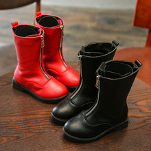 Kids Shoes Martin Boots Children Snow Motorcycle Autumn and Winter 2019 of Leather Waterproof Sneakers