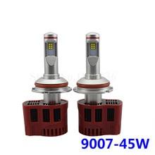 (2pcs/lot) Car styling lights P6 9007 90W 9000LM LED Bulb WITH Luxeon ZES CHIPS 3000K 4000K 5000K 6000K Car LED headlight Lamp