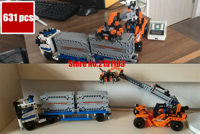 LEPIN Technic Series The Container Trucks Loader model Building kits Blocks Bricks boy Educational Toys birthday With 42062 free shipping lepin 21002 technic series mini cooper model building kits blocks bricks toys compatible with10242
