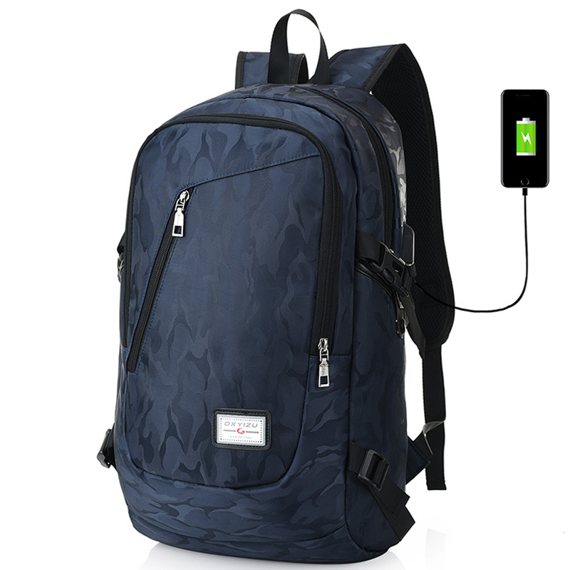 17 Inch Laptop Backpack Men USB Charging Nylon Camouflage Travel Backpack Computer Bag Headphone Hole Rucksack Daypack Notebook17 Inch Laptop Backpack Men USB Charging Nylon Camouflage Travel Backpack Computer Bag Headphone Hole Rucksack Daypack Notebook