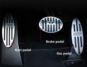 Image 3 - Auto Zubehör für R60 Mini Cooper S R55 R56 R60 R61 F54 F55 F56 F60 Aluminium Fußstütze Gas Bremse Kupplung pedal Abdeckung F56 F60 F55