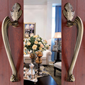 Hotel Door Wardrobe European Antique Copper Solid Wooden Door Sliding  Door Handle Cabinet Drawer Handle(C.C:220mm,L:305mm)