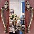 Hotel puerta armario antiguo europeo de cobre sólida puerta de madera puerta corredera manija del cajón del gabinete ( cc : 220 mm, L : 305 mm )